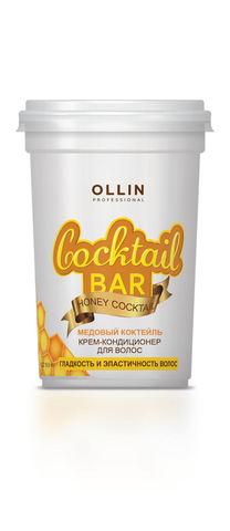 OLLIN крем-кондиционер для волос медовый коктейль гладкость и эластичность волос 500мл