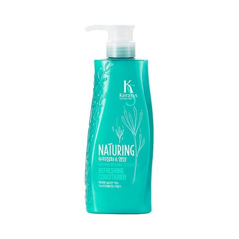 Кондиционер для волос Уход за проблемной кожей головы с морскими водорослями и лимонной эссенцией KeraSys Hair Clinic System Naturing Refreshing Conditioner 500мл