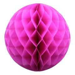 Бумажное украшение шар 40 см малиновый