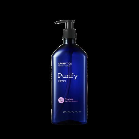 Шампунь для жирной и чувствительной кожи головы с экстрактом чайного дерева, 400 мл / Aromatica Tea Tree Purifying Shampoo