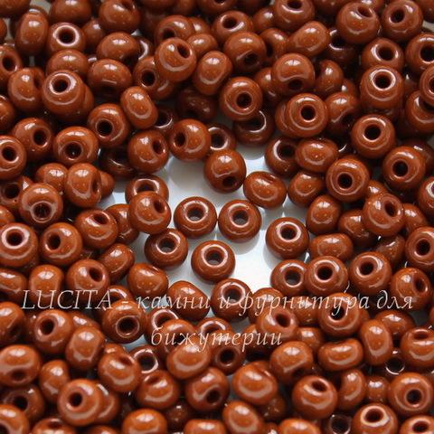 13600 Бисер 8/0 Preciosa Керамика красно-коричневый