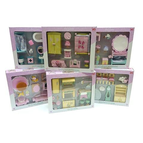 Набор кукольной мебели 6 комнат Бутон розы, Le Toy Van