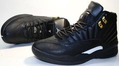 Кроссовки баскетбольные черного цвета nike air jordan - 12 retro