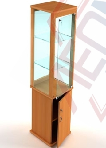ВМН-400 Витрина музейная стеклянная с накопителем
