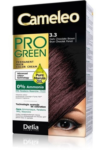Delia Cosmetics Cameleo Pro Green Краска для волос тон 3.3 шоколад