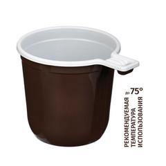 Чашка кофейная Бюджет 200 мл, двухцветная, ПП 50 шт/уп