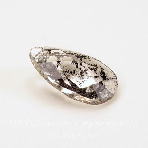 6106 Подвеска Сваровски Капля Crystal Black Patina (16 мм)