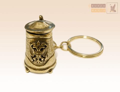 брелок Пивная кружка - герб России
