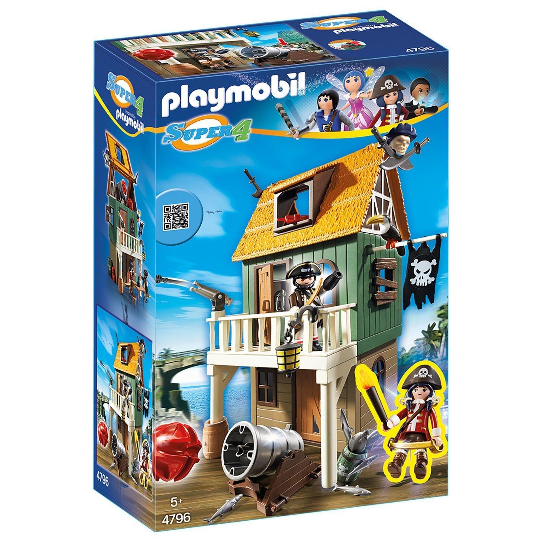 Конструктор блочный Playmobil Super 4 Замаскированный Пират Форт с Руби