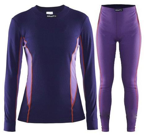 Комплект термобелья Craft Active Multi женский фиолетовый
