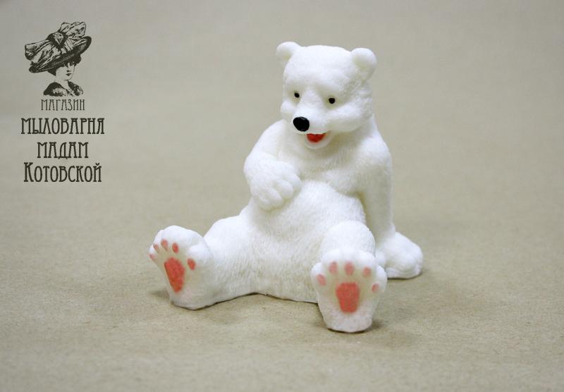 Белый мишка №1, форма силиконовая