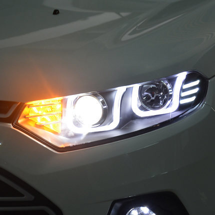 Фото - Передняя оптика LED LONG LIGHT для Ford Ecosport оптика