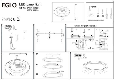 Светильник cветодиодный потолочный диммируемый Eglo SARSINA 97501 4