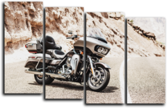 "Модульная картина ""Harley davidson road glide"""