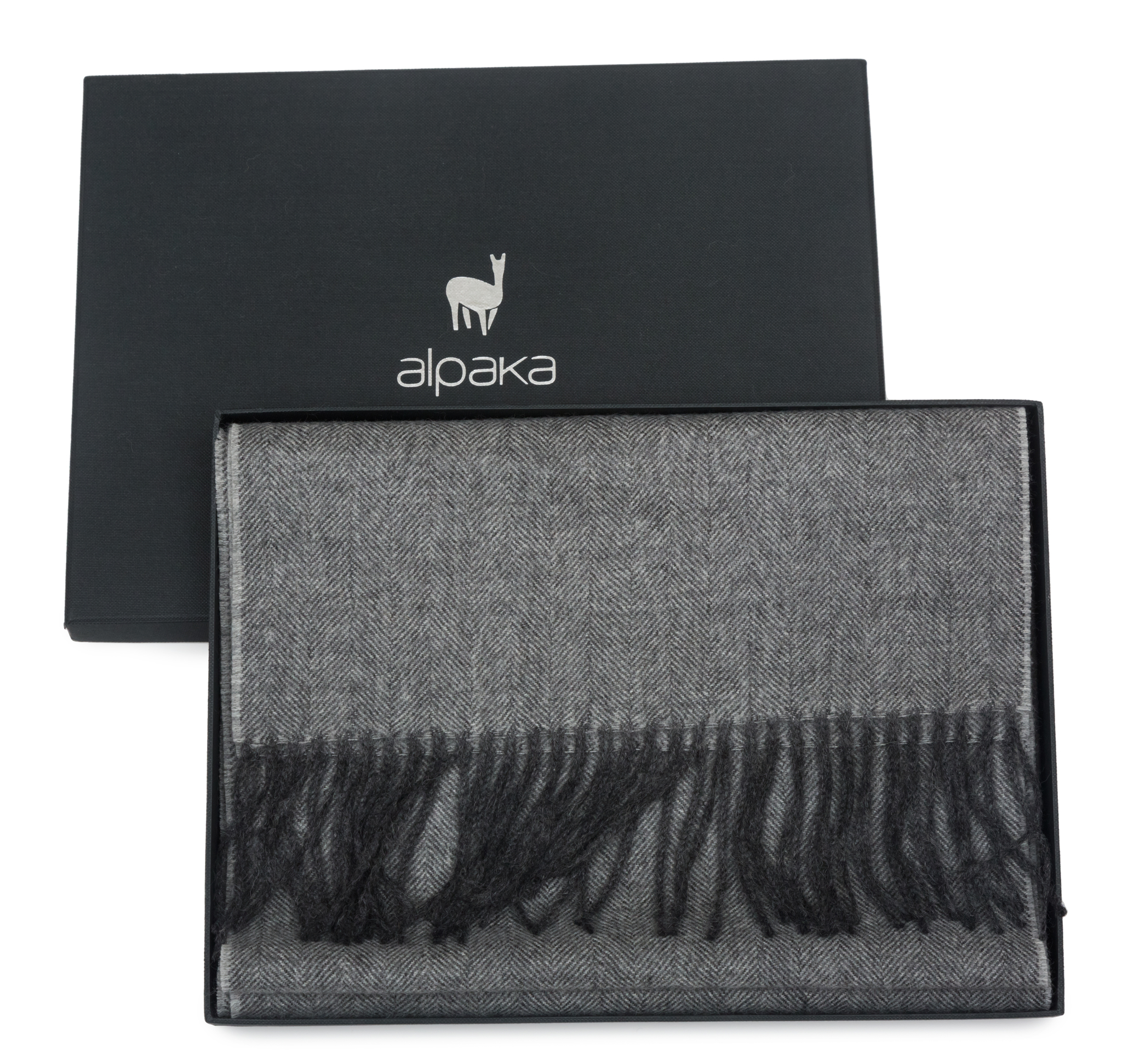 Плед-шарф шерстяной 30x200 Alpaka серый