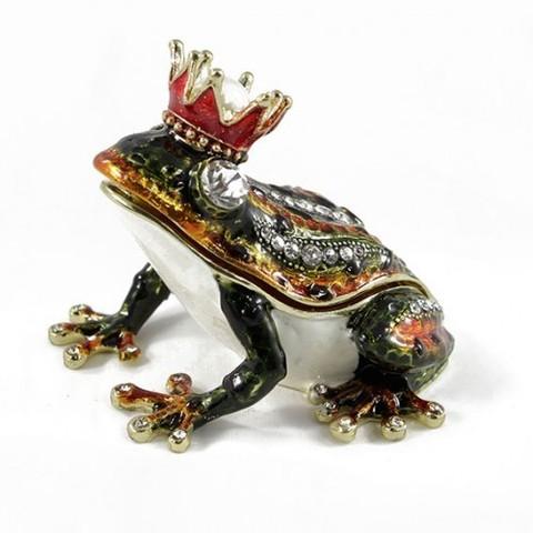 Шкатулка Лягушка с короной