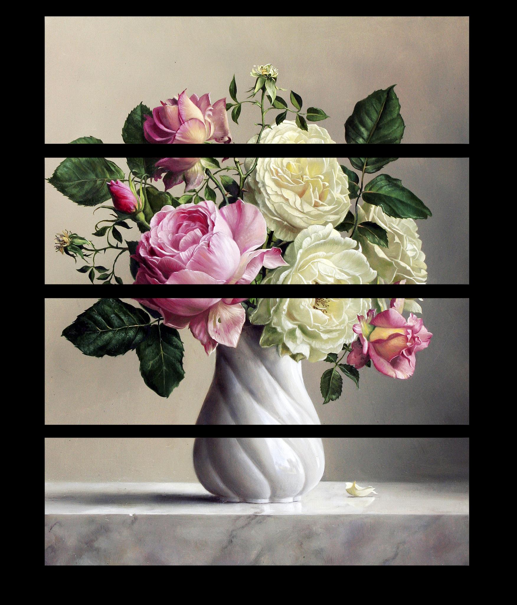 """Модульные картины Модульная картина """"Розы в вазе"""" М1180.png"""
