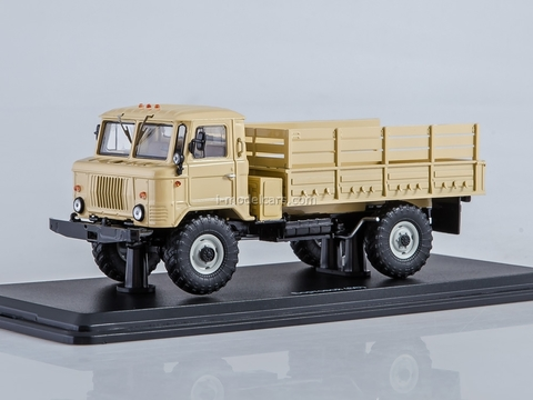 GAZ-66 flatbed truck beige 1:43 Start Scale Models (SSM)