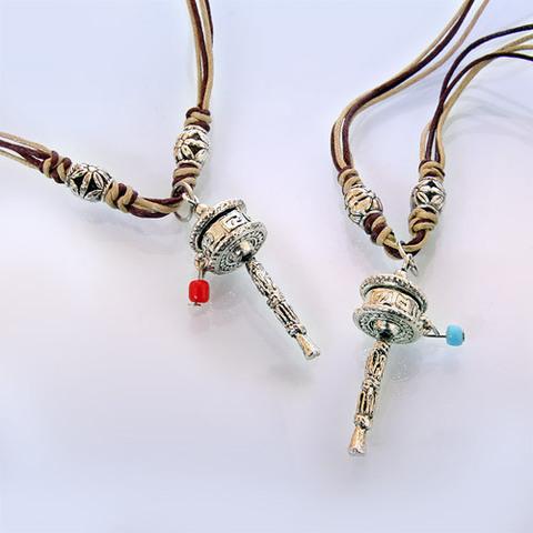 Подвеска-оберег Барабан Мани тибетское серебро