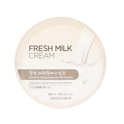Крем для лица и тела с экстрактом молока The Face Shop Daegwallyeong Milk Fresh Cream