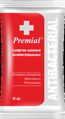 Bumfa Group Premial Салфетки влажные Антибактериальные 15шт