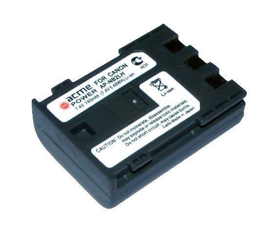 Аккумулятор для Canon EOS-400D (Батарея AcmePower NB-2LH для фотоаппарата Кэнон)