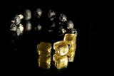 Браслет Murano Flex Cubo золотисто-черный