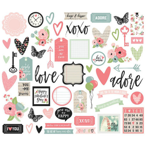 Высечки Romance Bits & Pieces Die-Cuts