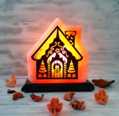 Солевая лампа Пряничный домик 2-3кг