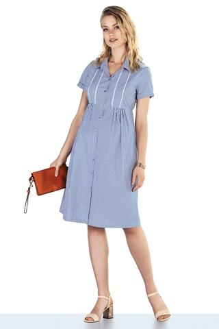 Платье для беременных 10220 голубой
