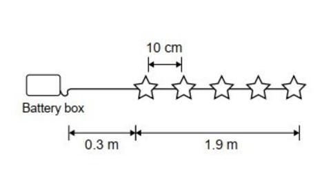 Гирлянда Звезда на батарейках Luca Lighting теплый свет (20 ламп, длина гирлянды 190 см)