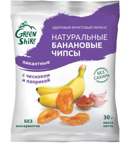 Банановые чипсы, пикантные с паприкой и чесноком, 30г