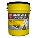 Мастика битумно-резиновая ТЕХНОНИКОЛЬ №20 ведро 20кг
