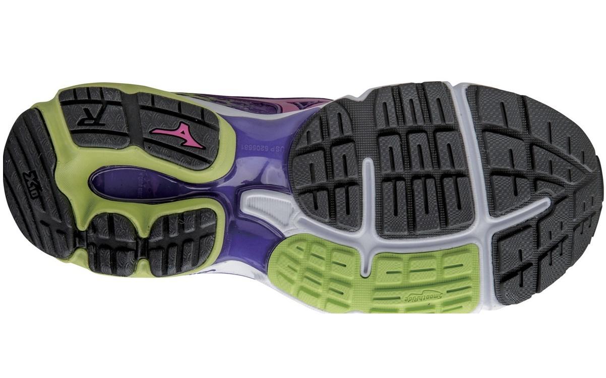 Женские кроссовки для бега Mizuno Wave Rider 18 (J1GD1503 59) фиолетовые подшва