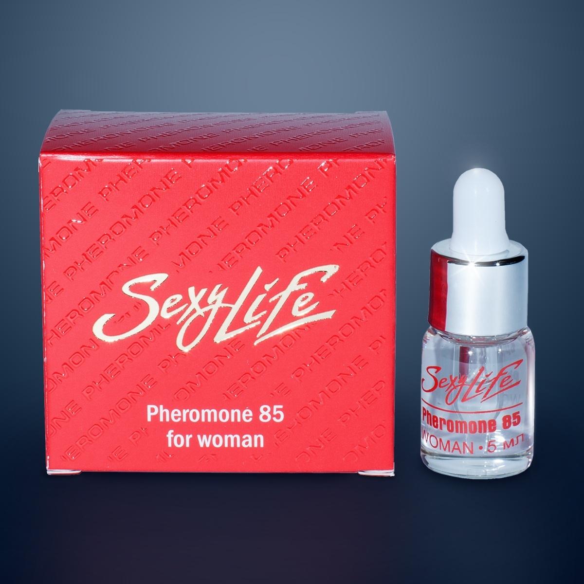 Концентраты феромонов: Концентрат феромонов Sexy Life для женщин (концентрация 85%) - 5 мл.