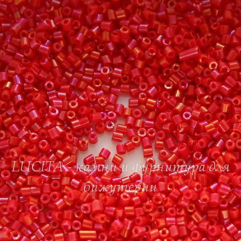 94170 Бисер Preciosa стеклярус #0.5 Керамика радужный красный коралл