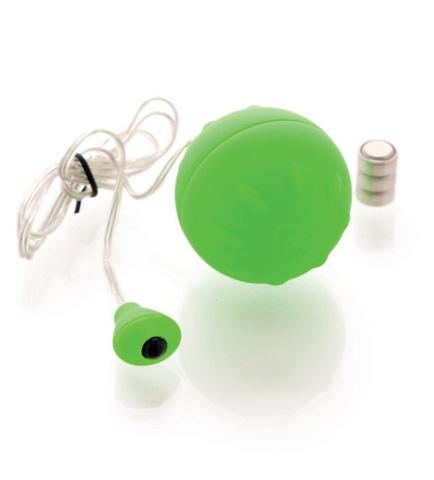 Виброяйцо с проводным пультом, зеленое (d. 4,5 см)
