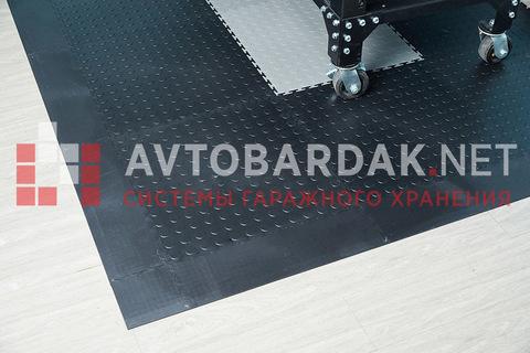 Пандус (завершающая плитка) 500 х 135 мм. Черный, толщина 7 мм