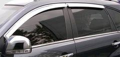 Дефлекторы окон (хром) V-STAR для Nissan X-Trail 14- (CHR57649)