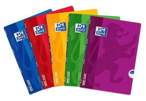 Тетрадь общая Open Flex A4 клетка 60л 90г/м2 5 штук в упаковке (цвета ассорти)