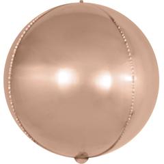 K (18''/46 см) Сфера 3D, Розовое Золото, 1 шт.