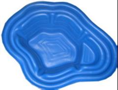 Пруд декоративный садовый, синий (190 л)
