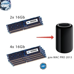 Комплект модулей памяти OWC 64GB для Apple Mac Pro 2013 4x 16GB 1866MHZ PC3-14900 DDR3 Reg ECC