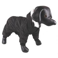 Комбинезон для собак, DEZZIE, теплый с капюшоном стеганый черный
