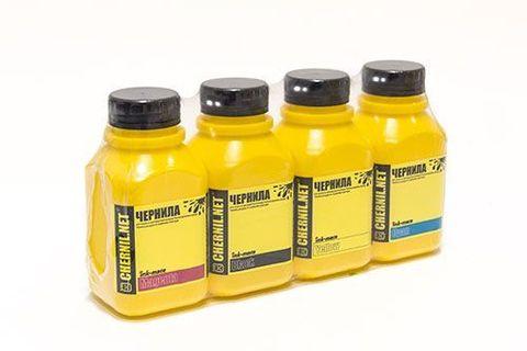 Комплект чернил EIM-200 для Epson L110, L120, L1300, L355, L555, L486. 4 цвета по 250 мл (CMYK)