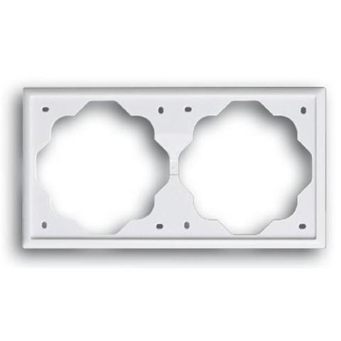 Рамка на 2 поста. Цвет Альпийский белый. ABB(АББ). Impuls(Импульс). 1754-0-4226