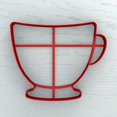 Чашка форма для пряника
