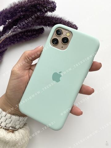 Чехол iPhone 11 Pro Max Silicone Case /beryl/ голубой берилл original quality