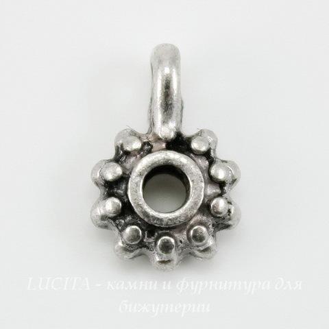 Бейл 12х8 мм (цвет - античное серебро), 5 штук