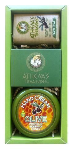 Подарочный набор в оригинальной упаковке ATHENA'S TREASURES крем+мыло